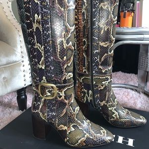 Coach Python skin boots. 100% authentic ✨